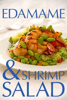 Very, Very Green Edamame and Shrimp Salad - SippitySup
