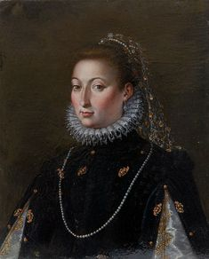 Jacopo Zucchi - Catalina Micaela. Oil on copper.