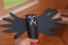 Toilet paper roll bats | Paper ghost for kids