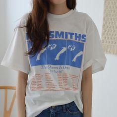 T シャツ・カットソー - コットン半袖プリントカジュアル夏Tシャツ The Queen Is Dead, Girl Outfits, Fashion Outfits, Print Logo, Street Wear, Trending Outfits, Business, Clothing, How To Wear