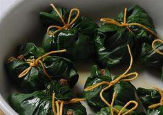 Paquetitos de espinaca rellenos  Foto:LA NACION