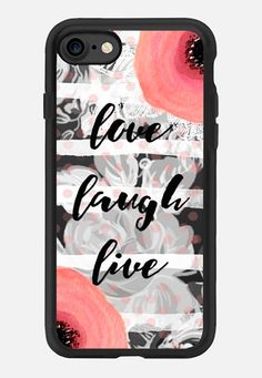 Casetify iPhone 7 Classic Grip Case - Love Laugh Live by Li Zamperini Art #Casetify