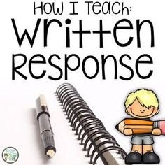 How I Teach Written Response, Written Comprehension, Talk About It Writing Mini Lessons, Teaching Writing, Writing Activities, Teaching Ideas, Writing Resources, Reading Strategies, Second Grade Writing, 2nd Grade Teacher, Elementary Schools