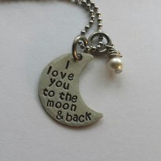 JBK Small I love you to the moon and back by jewelrybykaren2, $20.00
