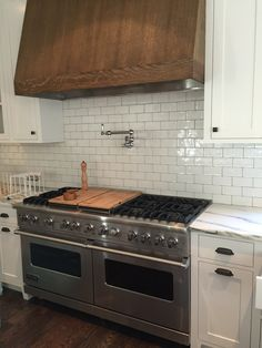 Nanda 3x6 Soft White Kitchen Backsplash. Purchased from Interior Surfaces Group in Atlanta, GA.