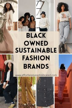 Sustainable Clothing Brands, Sustainable Fashion, Sustainable Companies, Sustainable Living, Ethical Fashion Brands, Ethical Clothing, New Fashion Trends, Black Fashion Bloggers, Surfer Girl Style