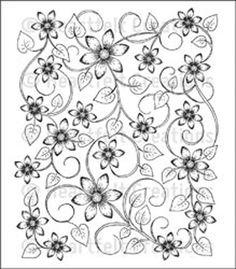 "Heartfelt Creations Cling Rubber Stamp Set 5""X6.5""-Sun Kissed Fleur Background"