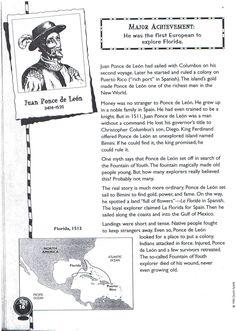 Juan Ponce de Leon (1474-1521) Printable