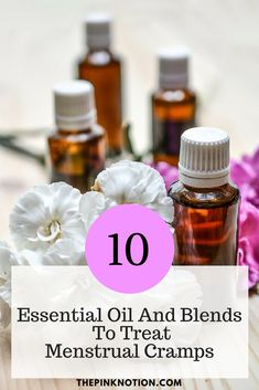 Research suggests that using essential oils and blends relieves the menstrual pain.