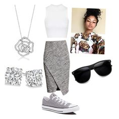 """""""Untitled #8"""" by kayla-daniels on Polyvore featuring H&M, Topshop, Converse and BERRICLE"""