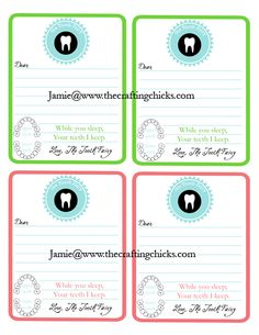 {Tooth Fairy Stationery   Free Printable}