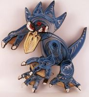 Paper Quilling Golduck - 055 by wholedwarf
