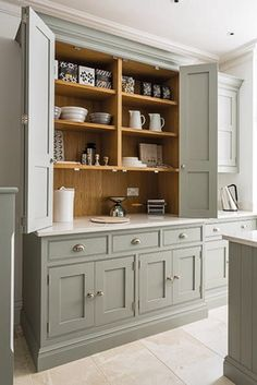 "A Builder Basic Kitchen Goes ""Bedford Gray"""
