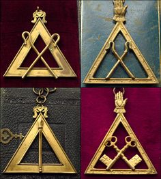 19th Century Masonic Triangular Medals