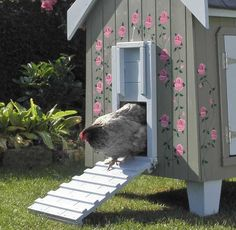 The Fantasia Rose Painted Hen House is decorated with hand-painted roses, making it a truly one-of-a-kind piece of art. (Fantasia Rose Hen House, approximately $1,440; flytesoffancy.co.uk)