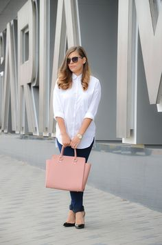 Pink statement in the latest outfit up on Purely Me by Denina Martin.