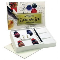 Winsor & Newton™ Calligraphy Ink Collection Set: Calligraphy, (model 1190191), price per set