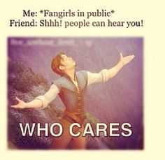 Fangirling in public. I don't even care.