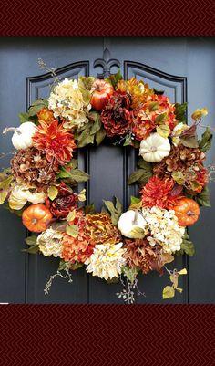 Fall decor | Thanksgiving decor | Door wreath #affiliate