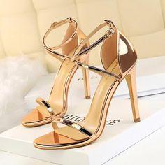 Wedding High Heels, Prom Heels, Strappy Sandals Heels, High Heels Stilettos, Strap Heels, Wedding Shoes, Women Sandals, Shoes Women, Sandals Outfit