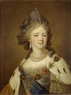 Portrait of Empress Maria Fyodorovna. Unknown, after Louise Élisabeth Vigée Le Brun. Ministry of Culture of the Russian Federation, via Google Cultural Institute. Early 19th century.