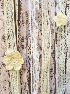 SALE Pastel Vintage Lace Crochet Floral Boho by Unicorns4Evaa