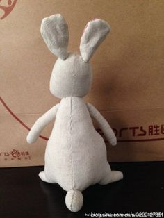 conejo divertido de tela 9