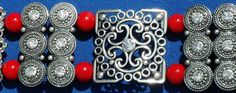 Silver Marcasite OOAK handmade red carnelian 2 strand by ElmsRealm, $24.00
