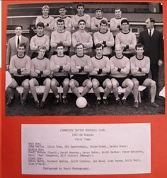 Back Row, Front Row, Cambridge United Fc, Brian Grant, Peter Robinson, One Team, Place Card Holders, The Unit