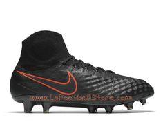 pretty nice 130be 79d06 Nike Magista Obra II FG Chaussure Officiel Nike de football à crampons pour  terrain sec pour Homme Noir Noir