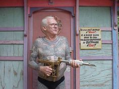 """""""To call one's mother a """"whore"""" is a lesser crime than to call the sacred instrument of tattooing a gun"""". Tattoo legend - Lyle Tuttle"""