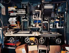 This photograph of the haphazard darkroom of photographer-printmaker Roy Snell is part of a series of works by Richard Nicholson documenting the demise of analogous production. Video Photography, Creative Photography, Photography Studios, Dream Photography, Photography Marketing, Photography Backdrops, People Photography, Children Photography, White Photography