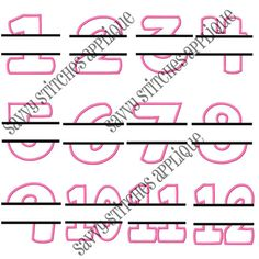 FunStitch Embroidery Designs Princess Crown numbers 0 9