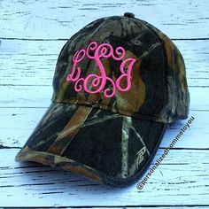 Monogrammed Camo Baseball Hat this is perfection! Military Cap, Camo Hats, Cool Style, My Style, Mens Caps, Country Girls, Country Life, Monogram Initials, Workout Wear