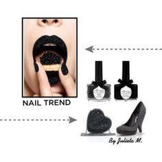Julieta Murakami (Spain) guest blogger at www.forarealwoman.com. She blogs at https://www.bloglovin.com/blog/11182035 Follow her!   Love this caviar effect on nail art.