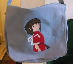 Chihiro Spirited Away Messenger Bag by Crossstitchandsew on Etsy, $30.00