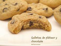 Galletas de plátano y chocolate - MisThermorecetas