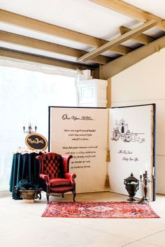 Oversized Once Upon a Time Storybook Photo Booth – shared by Wedding Chicks