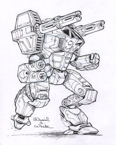Legacy mech sketch by Mecha-Zone