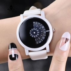 2017 BGG creative design wristwatch camera concept brief simple special digital discs hands fashion quartz watches for men women - White China Casual Watches, Cool Watches, Watches For Men, White Watches, Simple Watches, Cheap Watches, Elegant Watches, Unique Watches, Popular Watches