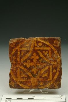Floor tile, 13th-14th century | Museum of London