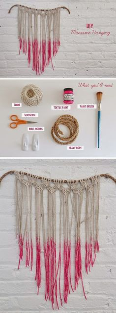 DIY macrame wall hanging ~ step-by-step instructions with plenty of photos