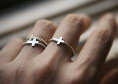 Sterling Silver Sideways Cross ring from Kellinsilver.com
