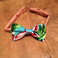Flocking Flamingos Limited Edition Men's Bow Tie by RagnBow