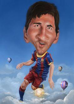 Lionel Messi Carlos Castro ©2012 caricature - www.ideo-gene.net - Générateur d'Optimistes Pragmatiques