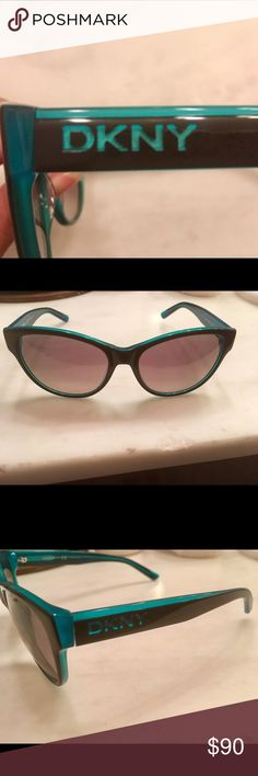 DKNY Cateye Sunnies ☀️ Navy and Teal cateye sunglasses. Brand new but without tags...they have no damage or signs of usage at all. DKNY Accessories Sunglasses