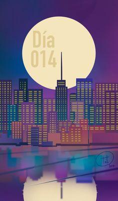 Daily014- Nignt city by TatsuZam.deviantart.com on @DeviantArt  #beautifulnight #city #dailydeviation #tatsuzam #lovigdraw #citylights #neoncolors #romance