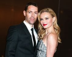 Kate Bosworth with husband Michael Polish both wearing head-to-toe BOSS at the HUGO BOSS PRIZE 2014 at the Guggenheim Museum in New York.