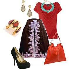 """""""Red & Black Chic"""" by ladiesfashionsense   Shop look >>http://www.ladiesfashionsense.com/Necklaces.html"""