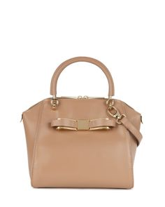 Small bow tote bag - Natural | Bags | Ted Baker ROW